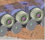 Hayssen geared roller assembly