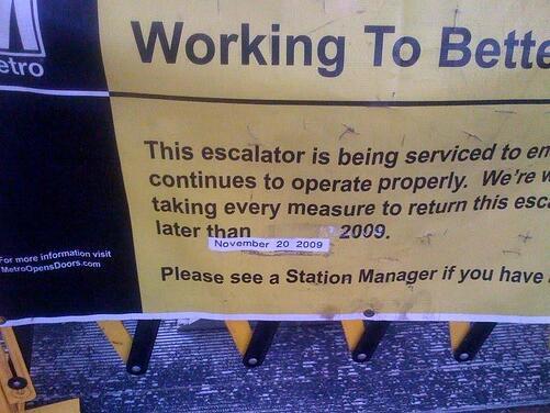 shut escalator